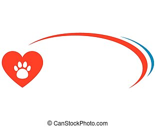 veterinarian background with heart - veterinarian background...