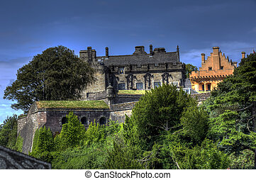 Side view of Stirling Castle - A sunny Side view of Stirling...