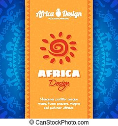 African Tribal Ethnic Art Background. Vector design