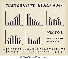 Business Infographic Elements - Hand drawn business...