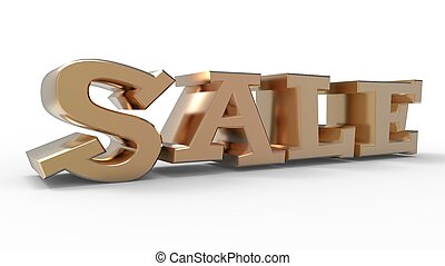 Sale Word - Sale word 3D isolated from the background