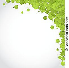 Greeting background with shamrocks for St Patricks Day, copy...
