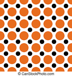 Halloween Polka Dots - A background pattern of polka dots...