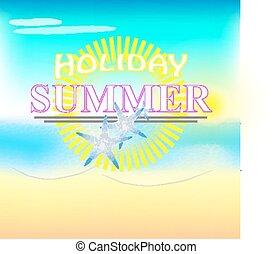 Illustration of summer text