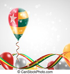 Flag of Togo on balloon - Flag of the Togo country on...