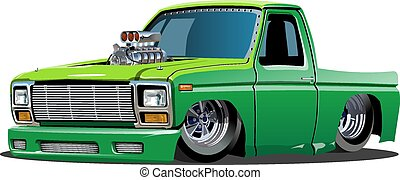 Cartoon lowrider - Vector cartoon lowrider pickup Available...