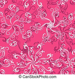 Hot pink seamless floral pattern