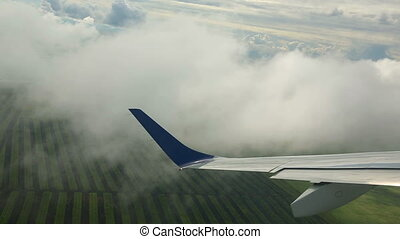 Take-off - Aerial view from the cabin aircraft taking off