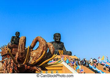 Luang Phor Tuad Buddha in Wat Huai Mongkhon temple Hua Hin,...