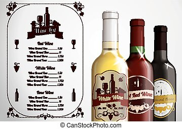 Menu template - for alcohol with th