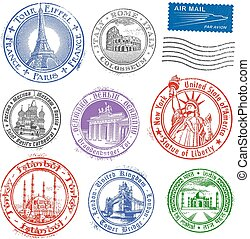 Grunge Vector Monument Stamps - High quality Grunge Vector...