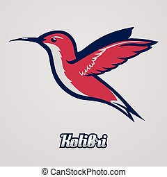 Hummingbird.  Vector to be used as a mascot or logo etc.