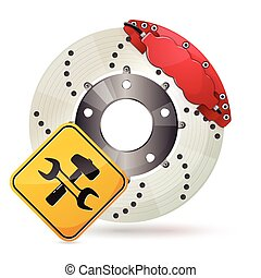 Brake disc - Car brake disc service icon