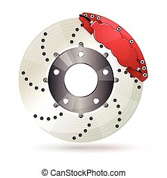 Brake disc - Car brake disc with caliper. Shiny design.