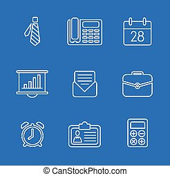 Vector illustration of business icons - Set vector...