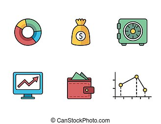 banking icons - illustrated icons on the theme of banking...