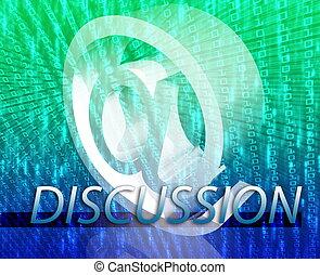 Online discussion - Internet communication illustration for...