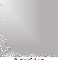 Falling Stars on Silver Background - Illustration of stars...