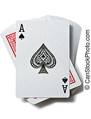 Ace of spades is on the deck of cards