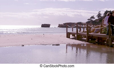 St Eulalia Beach Walkway - Algarve - Western Atlantic coast...