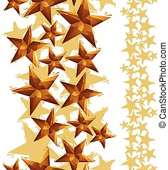 Stars seamless pattern, vertical composition, geometric...