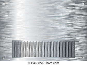 brushed silver grill - abstract silver metal background with...