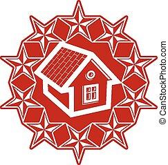 Solidarity idea branding icon, simp