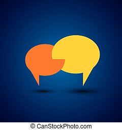 chat or talk symbol or speech bubble - concept vector This...