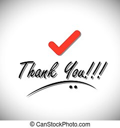 thank you handwritten words vector with check mark icon This...