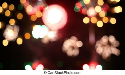 ColorFul Bokeh Of Fireworks