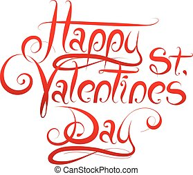 Calligrapgy for St Valentines Day - Calligrapgy greetings...