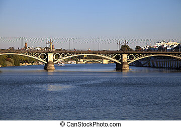 Triana bridge in Seville - Triana Eifel bridge in Seville,...