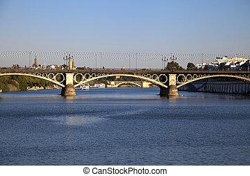 Triana, Puente, en, sevilla,
