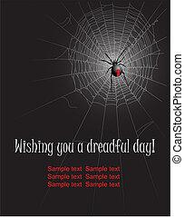Spider - Halloween spider web background Vector illustration...
