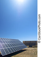 solar energy - photovoltaic panel with blue sky