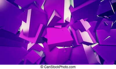Cubic background - Cubic abstract background Loop animation...