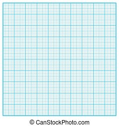 Vector square inch grid background - Vector square inch blue...