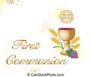 primeiro, comunhão,