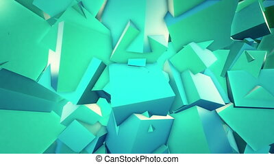 Cubic background - Cubic abstract background. Loop...