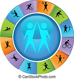 Sports Wheel Icon Set