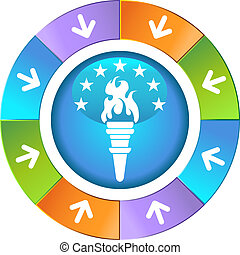 torch icon wheel vector illustration image scalable to any...