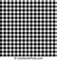 Checkered tablecloths pattern - endless - black