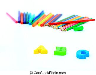 School accessories. - School accessories.