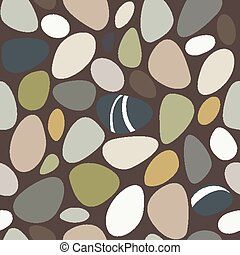 Sea stones seamless pattern. Vector illustration EPS8
