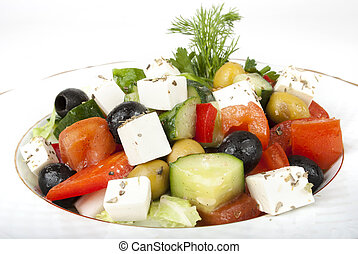 Feta salad with tomatoes