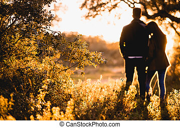 Couple - A Girl Hand In Hand With His Boyfriend