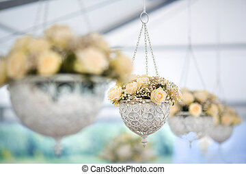 Wedding Flowers Decoration - Wedding reception centerpiece...