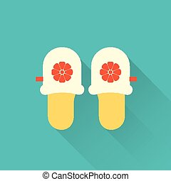 flat slippers icon