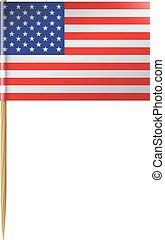 U. S. Flag Toothpick - Small United States Flag on a...
