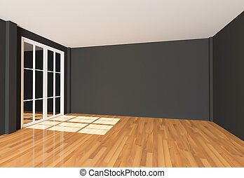 Empty room Color Wall